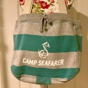 Camp Seafarer sweatshirt material tote bag